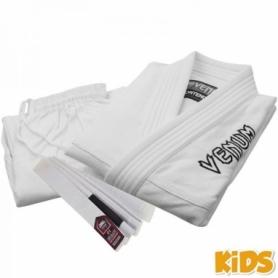 Кимоно детское для бразильского джиу-джитсу Venum Contender 2.0 белое (FP-7086-1)