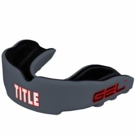 Капа TITLE Gel Victory Серая с черным (Для взрослых)