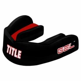 Капа TITLE Gel Max Channel Черная с красным (Для взрослых)