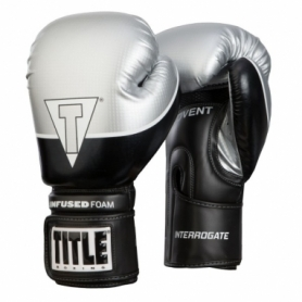 Перчатки боксерские Title Boxing Infused Foam Interrogate Training Gloves (FP-7271-V) - серебристые