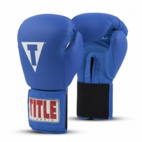 Перчатки боксерские Title Boxing Classic Originals Leather Training Gloves Elastic 2.0 (FP-7335-V) - синие
