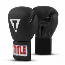 Перчатки боксерские Title Boxing Classic Originals Leather Training Gloves Elastic 2.0 (FP-7338-V) - черные