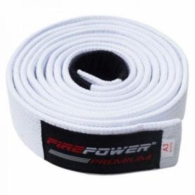 Пояс для Бразильского Джиу-Джитсу FirePower Premium (А3) Белый