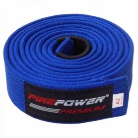 Пояс для Бразильского Джиу-Джитсу FirePower Premium (А4) Синий