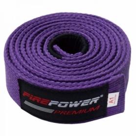 Пояс для Бразильского Джиу-Джитсу FirePower Premium (А4) Фиолетовый