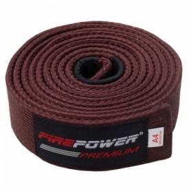 Пояс для Бразильского Джиу-Джитсу FirePower Premium (А2) Коричневый