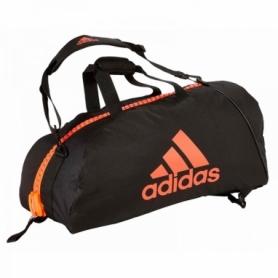 Сумка-рюкзак Adidas 2in1 Bag Nylon, adiACC052 (FP-7525) - черно-красная, 65 л