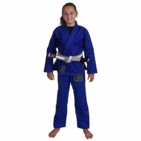 Кимоно детское для бразильского джиу-джитсу Kingz Comp V5 синее (FP-7663-1)