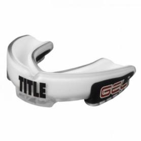 Капа TITLE Gel Triple-Shox Белая с черным (Для детей)