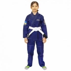 Кимоно детское для бразильского джиу-джитсу Firepower Ukraine синее (FP-7926-1)