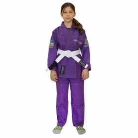 Кимоно детское для бразильского джиу-джитсу Firepower Ukraine фиолетовое (FP-7951-1)