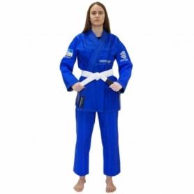 Кимоно женское для бразильского джиу-джитсу Firepower Ukraine голубое (FP-7986-1)