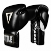 Перчатки боксерские TITLE Boxing Boxeo Mexican Leather Lace Training Gloves Tres (FP-8426-V) - черные