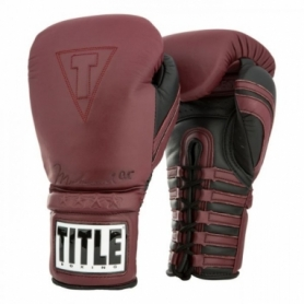 Перчатки боксерские TITLE Boxing Ali Authentic Leather Lace Training (FP-8458-V)