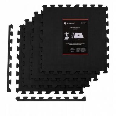 Мат-пазл Springos Mat Puzzle EVA FM0001 120 x 120 x 2 cм, черный