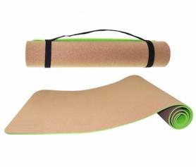 Коврик для йоги и фитнеса SportVida TPE+Cork 0.4 см