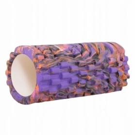 Ролик массажный Springos Mix Color 33 x 14 см, фиолетовый (FR0019)
