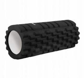 Ролик массажный Springos 33 x 14 см, черный (FR0013)