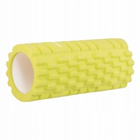 Ролик массажный Springos 33 x 14 см, желтый (FR0015)