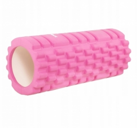 Ролик массажный Springos 33 x 14 см, розовый (FR0017)