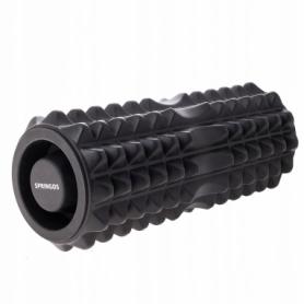 Ролик массажный Springos FR0006 33.5 x 13.5 см, черный