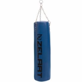 Мешок боксерский PU Zelart (BO-1991) с цепью, h-95см