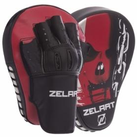 Лапы изогнутые Zelart PU BO-1317, черно-красные