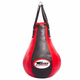 Груша боксерская набивная Каплевидная подвесная Twins (1099), красная