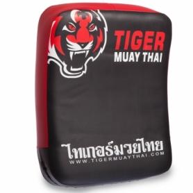 Макивара изогнутая кожаная Mauy Thai Tiger, красная - 40 см