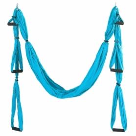 Гамак для йоги ZLT Antigravity Yoga swing FI-5323 голубой
