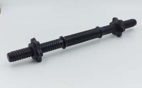Гриф гантельный пластиковый с насечкой с замками P-sport (TA-80257-35), 35см