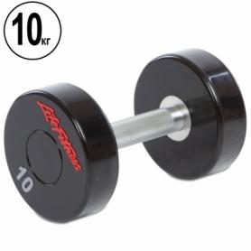 Распродажа*! Гантель профессиональная полиуретановая Life Fitness (SC-80081-10), 10кг