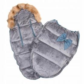 Детский конверт для коляски, санок 4 в 1 Springos SB0001 Blue - Фото №4