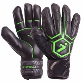 Перчатки вратарские Storelli FB-905 черно-зеленые