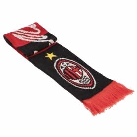 Шарф зимний для болельщиков двусторонний Soccer AC Milan FB-3033, красно-черный