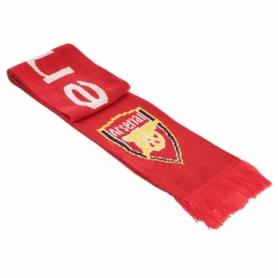Шарф зимний для болельщиков двусторонний Soccer Arsenal B-3031, красный