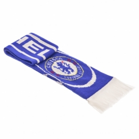 Шарф зимний для болельщиков двусторонний Soccer Chelsea FB-3029, синий