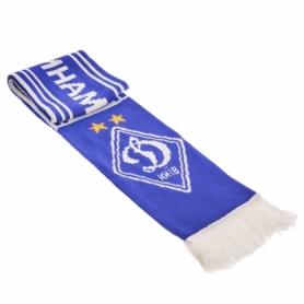 Шарф зимний для болельщиков двусторонний Soccer Динамо Киев FB-5769, синий