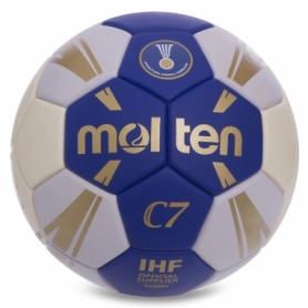 Мяч гандбольный Molten H2C3500 синий, №2