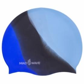 Шапочка для плавания MadWave Multi синяя (M053401_BL)