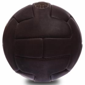 Мяч футбольный кожаный Vintage (F-0249) - темно-коричневый, №5