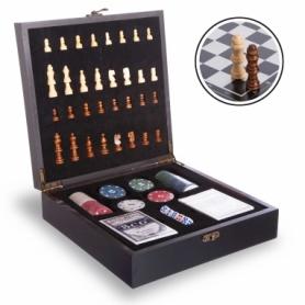 Набор настольных игр 2 в 1 (шахматы, покер)  W2624, черный