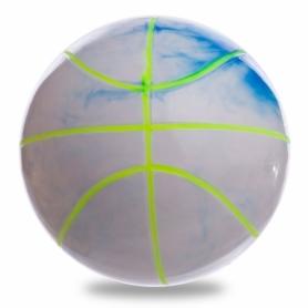 Мяч баскетбольный резиновый Legend (BA-1910), белый