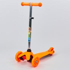 Самокат детский с наклоном руля MicMax оранжевый (JP-MG-02)