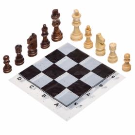 Шахматные фигуры деревянные с полотном для игр 301P, 8 см