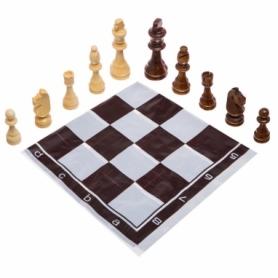 Шахматные фигуры деревянные с полотном для игр 305P, 9,5 см