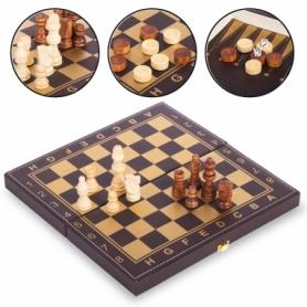 Набор настольных игр 3 в 1 (шахматы, шашки, нарды кожзам) L3008, 30х30 см