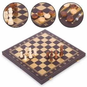 Набор настольных игр 3 в 1 (шахматы, шашки, нарды кожзам) L4008, 40х40 см