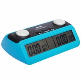 Часы шахматные электронные Pursun 389 пластик, голубой
