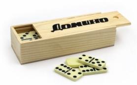 Домино в деревянной коробке Hobby World IG-2318, 18,5x6,5x4 см